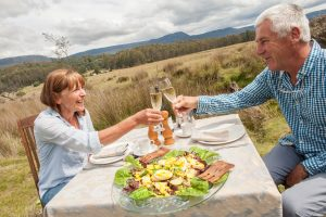Forest Walks Lodge- gourmet food, fine dining Tasmania, Dinner bed and breakfast Tasmania, Great Western Tiers